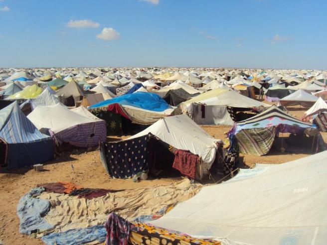Campamento de refugiados del Sáhara.