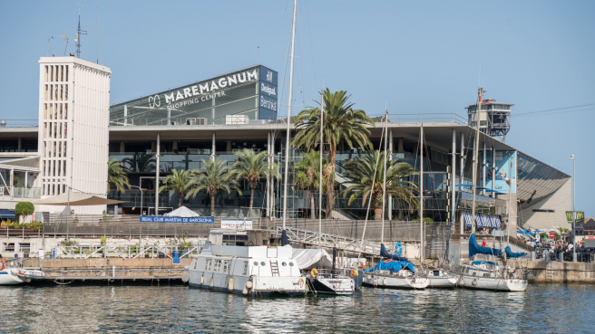 Exterior of the Maremagnum shopping center in Barcelona, in a file image.