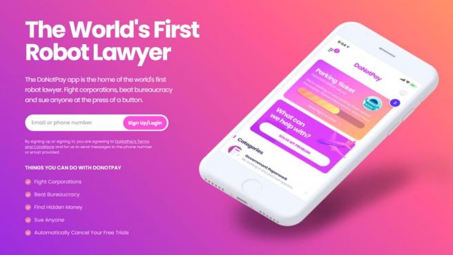 Imagen promocional de la aplicación móvil.