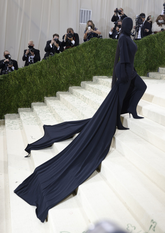 Kim Kardashian durante la Gala MET del 2021.