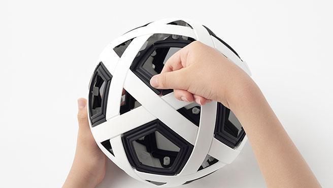 El balón que no se infla está formado por 54 piezas.