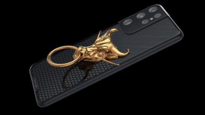 La versión con una cabeza de buey dorada del S21 Ultra