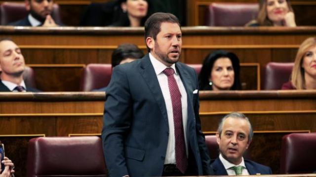 Carlos Fernández-Roca, diputado de Vox por Almería, en el Congreso.