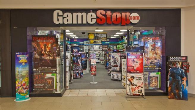 Entrada de una tienda GameStop.