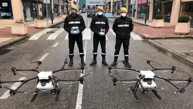 La UME ha recibido estos días el préstamo de dos drones de la empresa Stock RC.