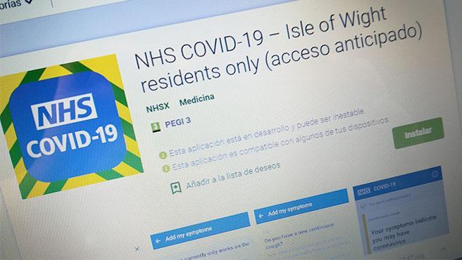 Primera versión, descargable en Play Store, de la app británica para rastrear casos de Covid-19