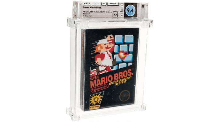 Una copia de 'Super Mario Bros' de NES en perfecto estado y sin abrir.