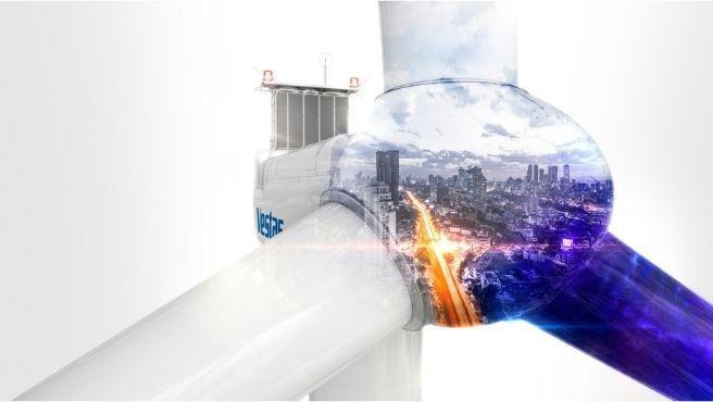 La turbina logra un ahorro de CO2 equivalente a retirar 25.000 turismos de las carreteras cada año.