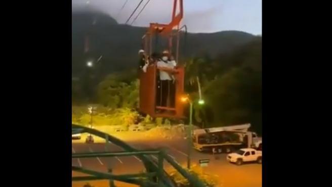 Rescate en el teleférico Puerto Plata de República Dominicana.