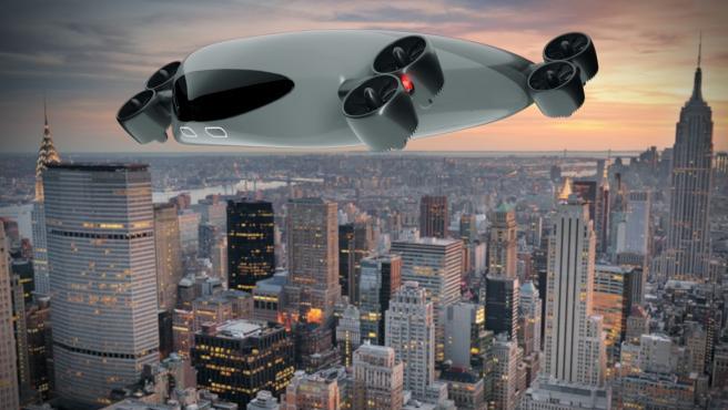 Este es el diseño futurista que tendría el autobús aéreo.
