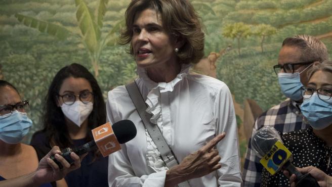 La líder opositora nicaragüense Cristiana Chamorro, en Managua (Nicaragua).