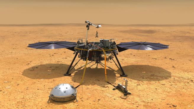 Los paneles solares de InSight se han llenado de polvo.