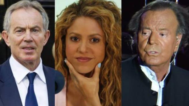 Tony Blair, Shakira o Julio Iglesias son algunos de los nombres que aparecen en los Papeles de Pandora.