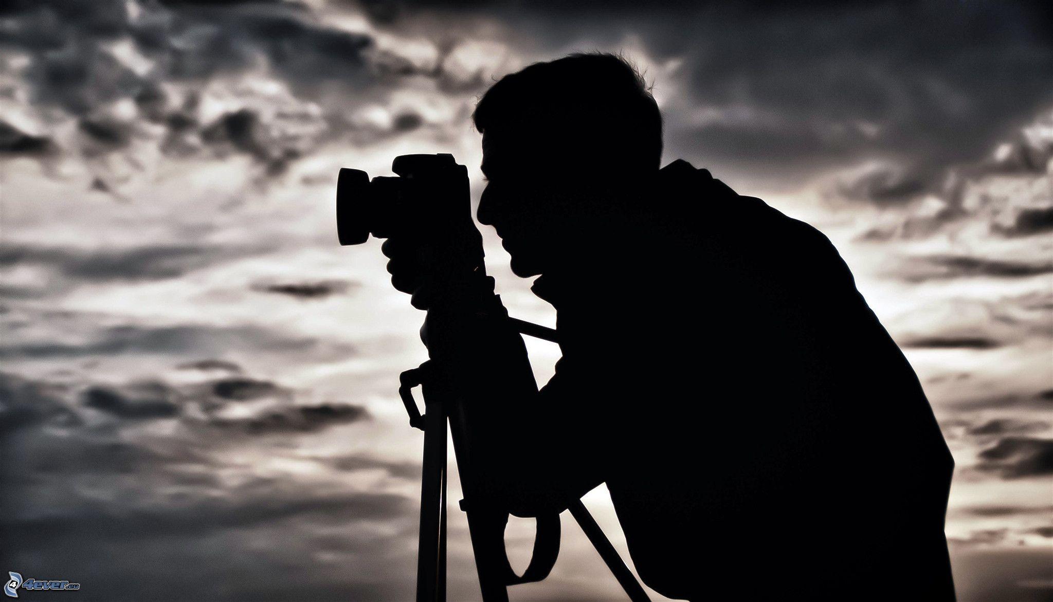 Resultado de imagen de fotografo silueta