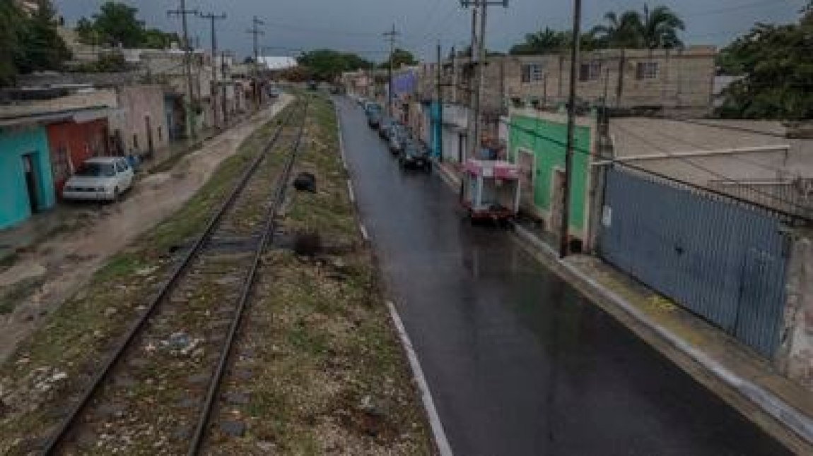 View of the Camino Real neighborhood in the city of Campeche, one of the points where the Mayan train will cross, on June 11, 2020.