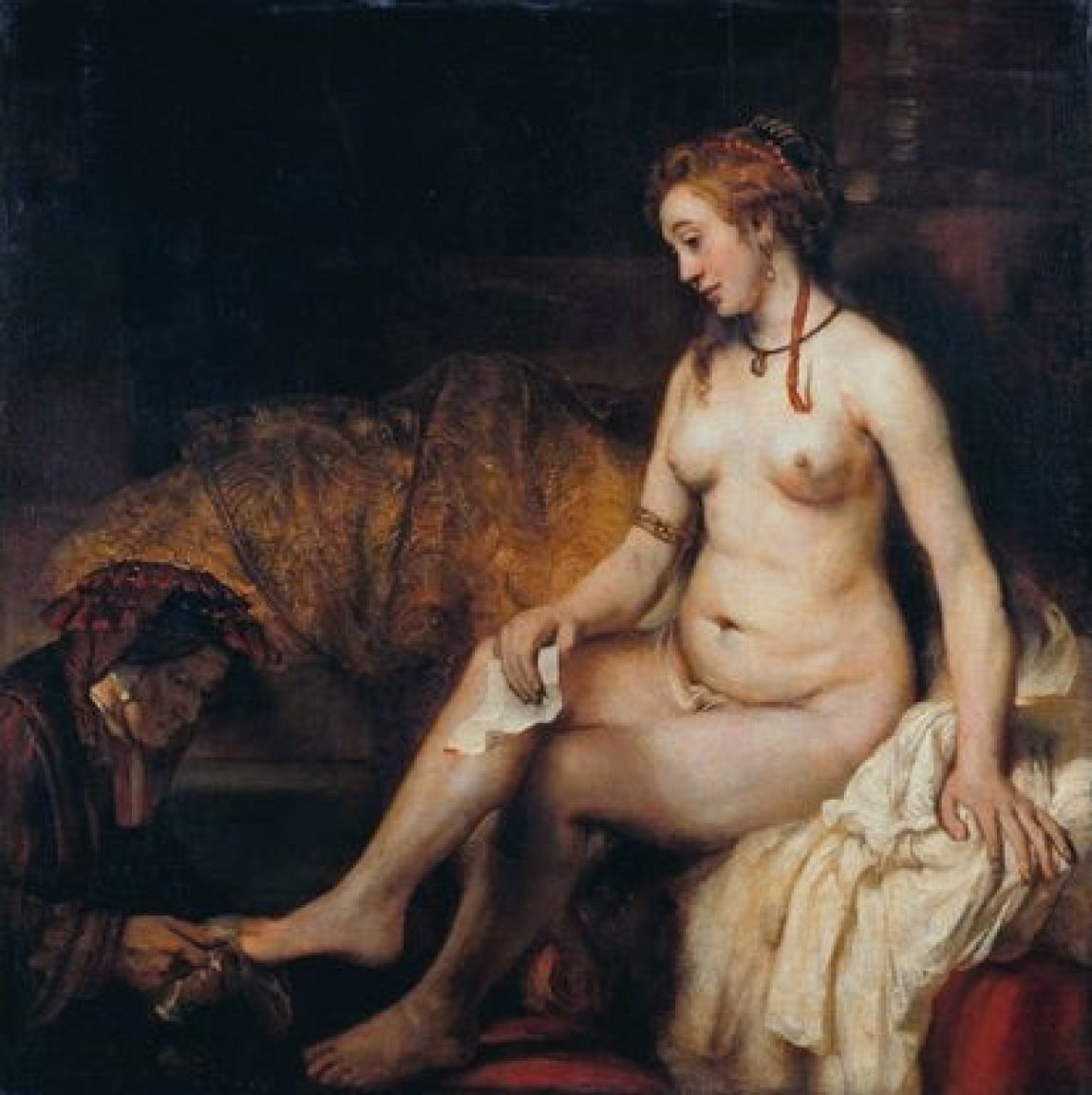 'Bathsheba with the letter of David', by Rembrandt.