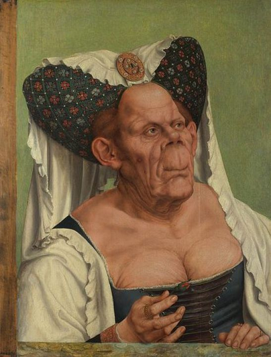 Quentin Massys painting known as 'The Ugly Duchess'.
