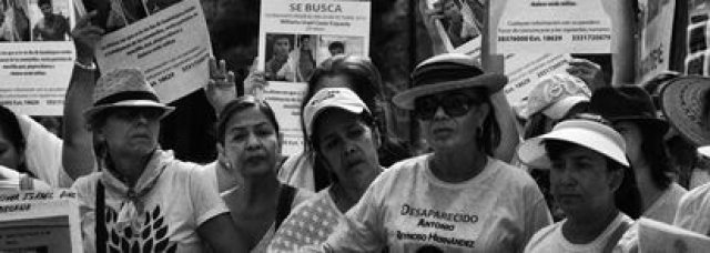 Familiares de personas desaparecidas, protestan en la ciudad de Guadalajara en mayo de 2018. Jalisco es el Estado con el mayor numero de desaparecidos en México.