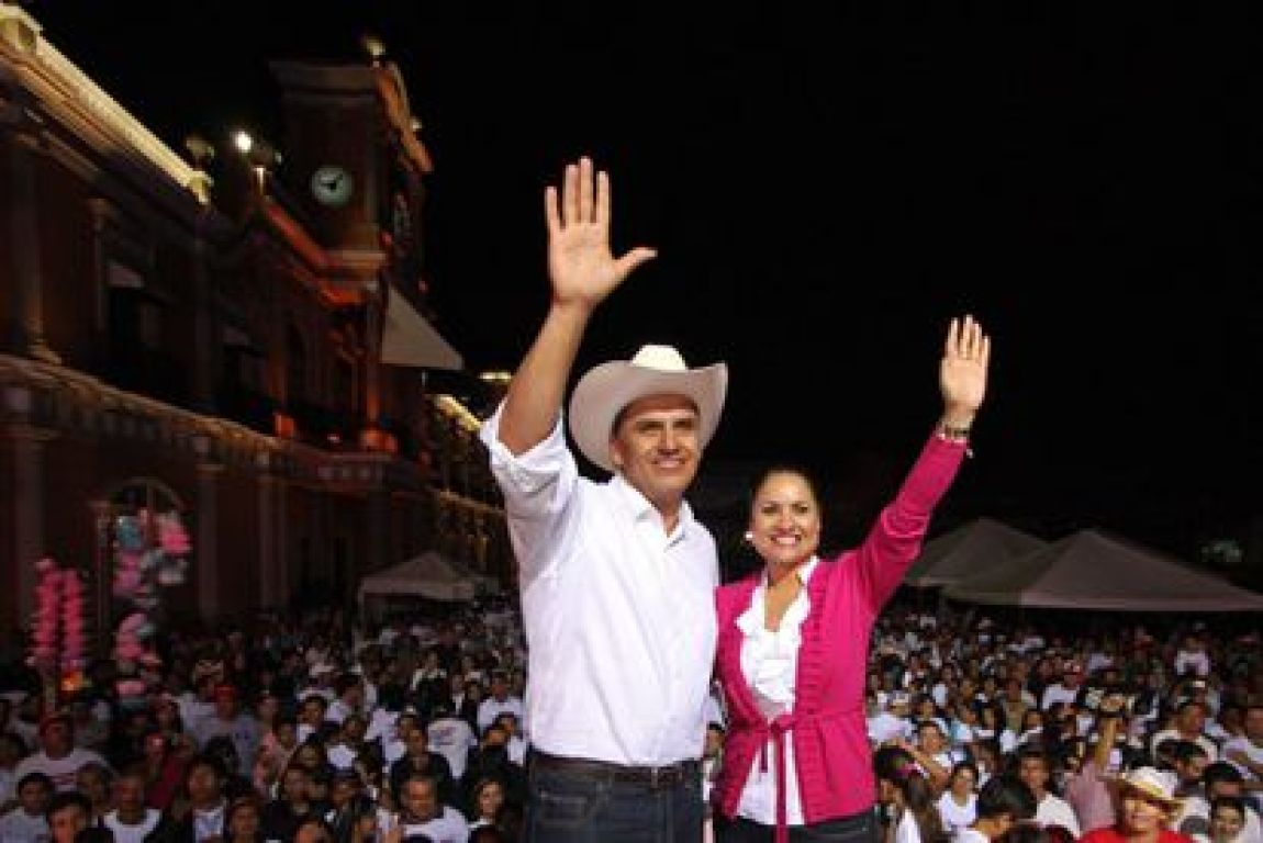 Roberto Sandoval, after winning the elections for governor of Nayarit in July 2011.