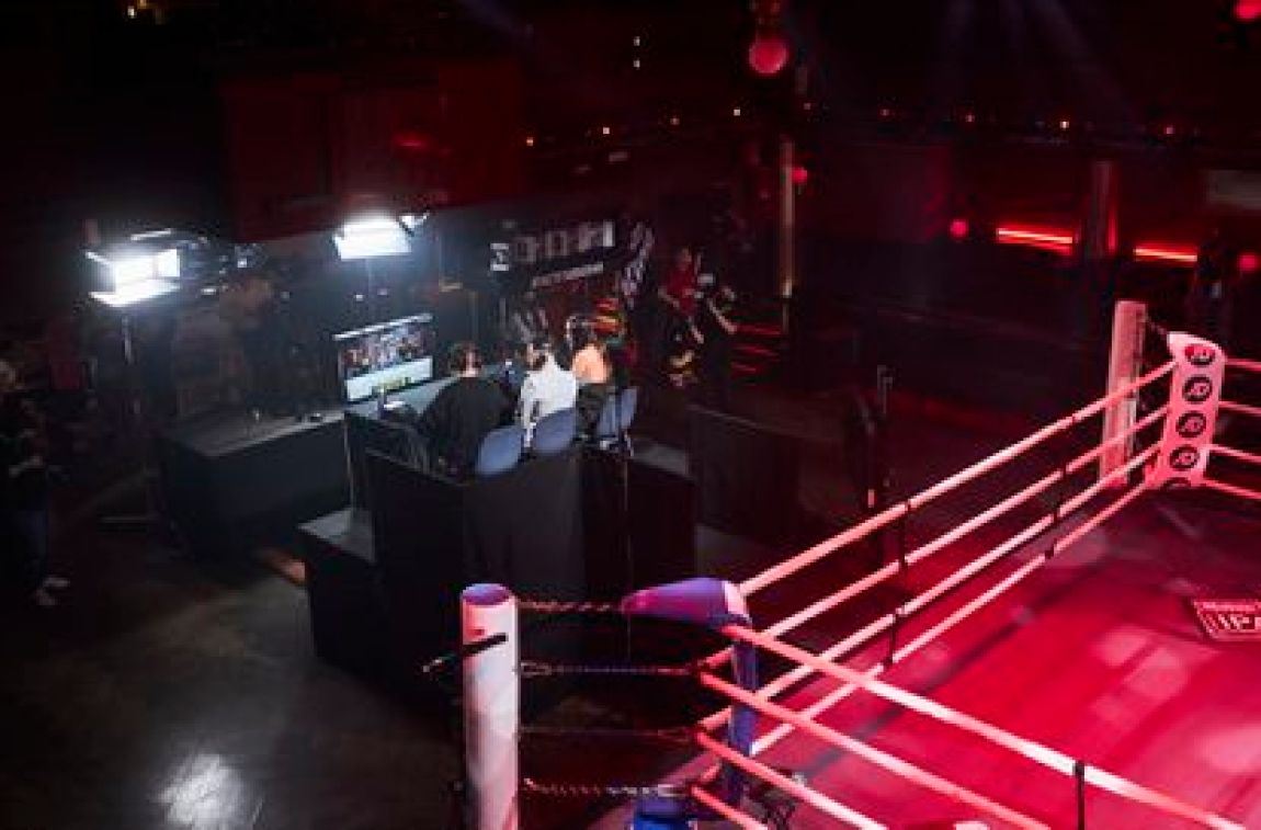 Broadcast of Ibai's boxing evening, in an image provided by the Vizz agency.