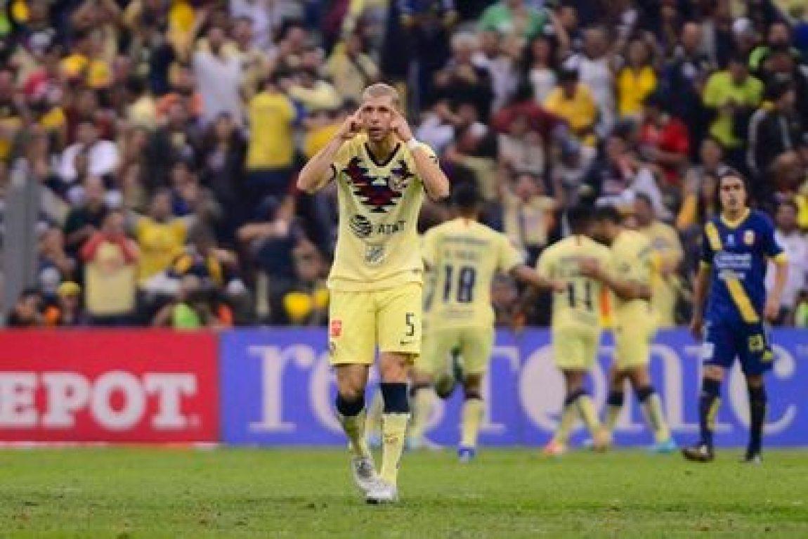 Guido Rodríguez, during a match at América, in December 2019.