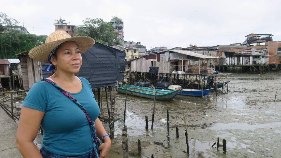 Danelly Estupiñán del Proceso de Comunidades Negras (PCN) en Buenaventura, Colombia.