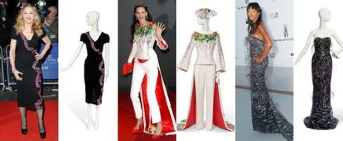 The three most expensive Scott dresses sold at auction, after Jagger's jackets: the one Madonna wore at a London premiere in 2011 (€ 72,700);  the suit that L'Wren Scott herself wore at fashion awards in London in 2013 (37,800 euros);  and Naomi Campbell's at the 2010 Amfar gala (11,600 euros).