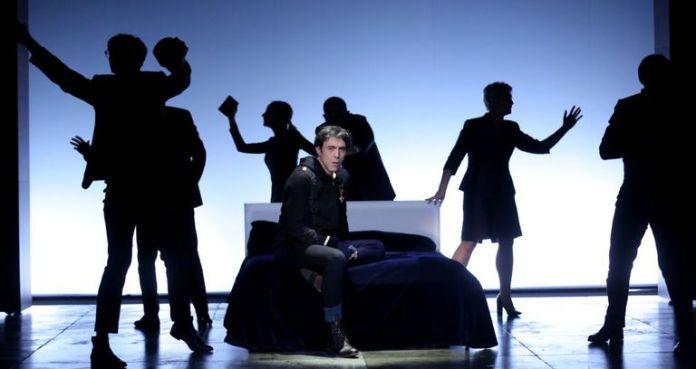 Israel Elejalde, in a moment of 'Hamlet'.