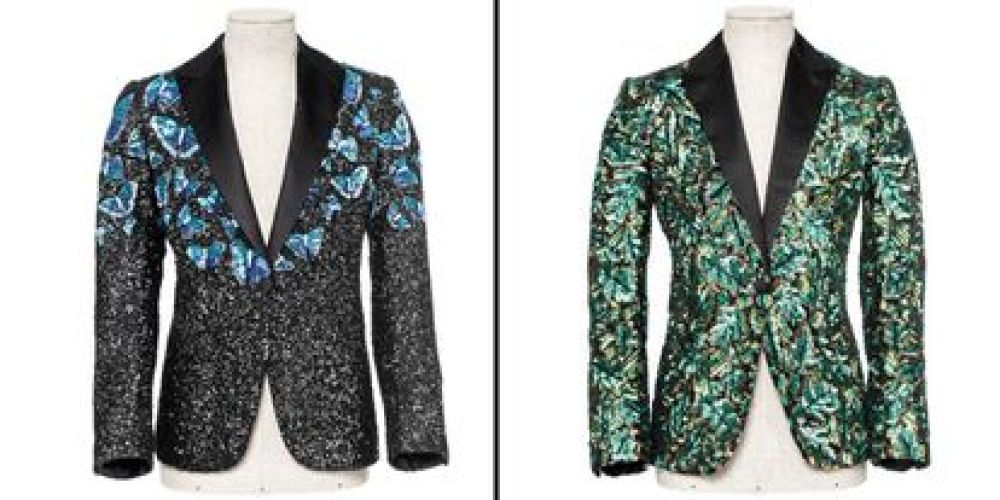 Jackets designed by L 'Wren Scott for Mick Jagger and auctioned at Christie's.