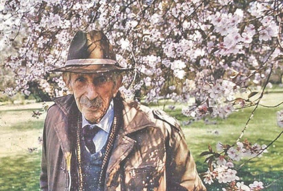 Collingwood Ingram in his La Grange garden at age 99, in a family photo.