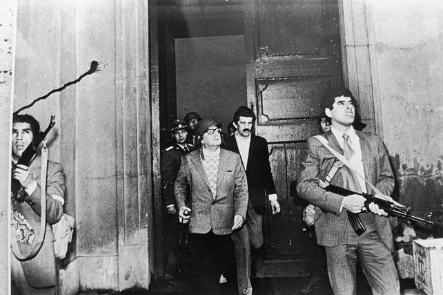 Salvador Allende, el 11 de septiembre de 1973, día del golpe de Estado de Pinochet.
