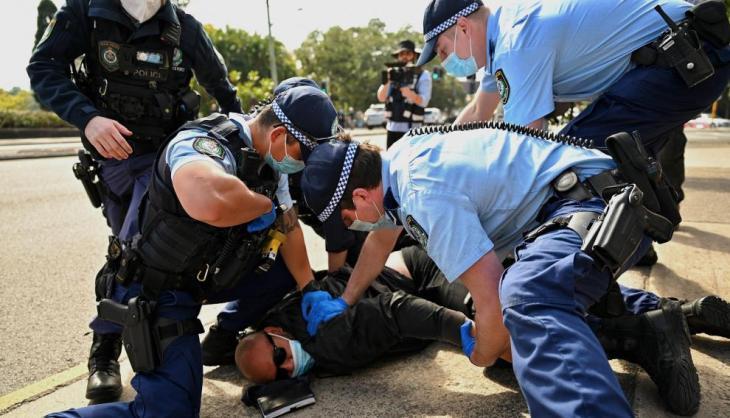 Una de las múltiples detenciones que se han llevado a cabo el fin de semana.