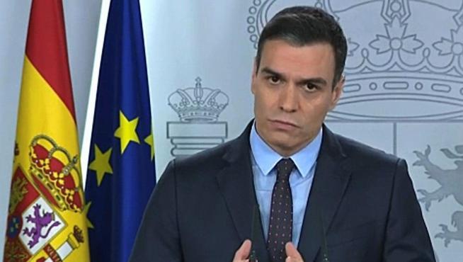 Pedro Sánchez informa crisis coronavirus en el séptimo día de alarma