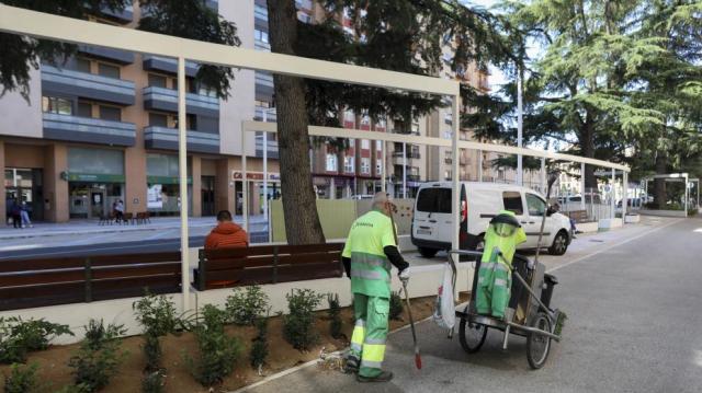 Abierto otro tramo del paseo Ramón y Cajal de Huesca.