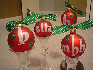 Boule de Noël sur bougeoir