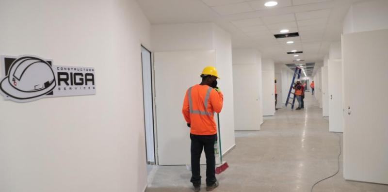 Trabajos para habilitar camas en la Ciudad de la Salud tienen un 42% de avance