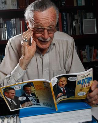 Stan Lee, uno de los cerebros más inspirados de la historia del cómic.AFP