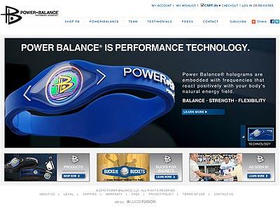 Imagen de la página web de la empresa distribuidora de las pulseras 'Power Balance'.