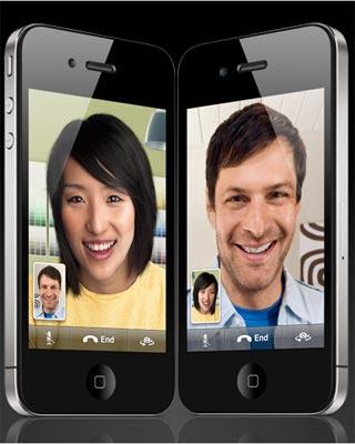 Si su defectuosa antena lo permite, el iPhone 4 puede con la  videoconferencia móvil.