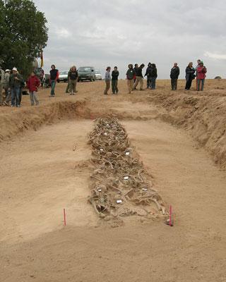 Los restos de los fusilados fueron exhumados en La Andaya entre 2006 y 2007.