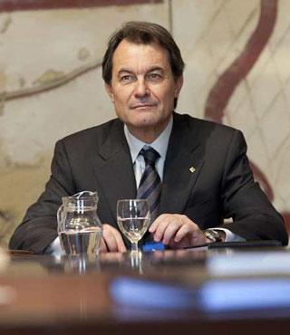 Toma de posesión del nuevo gobierno de la Generalitat, presidido por Artur Mas.