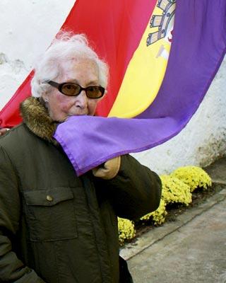 Angelita Cuesta, compañera de 'Las Trece Rosas', fallecida en Valencia. Asociación de la memoria histórica.