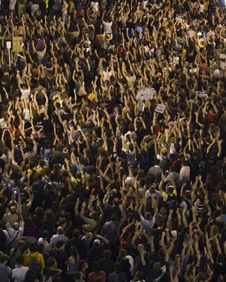 La Puerta del Sol, el día de la marcha del 15-M.