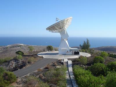 La antena de seguimiento de Maspalomas.