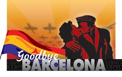 El cartel de 'Goodbye Barcelona', que se puede ver en Londres hasta el 23 de diciembre.