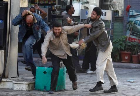 Imagen de los enfrentamientos. REUTERS/Goran Tomasevic