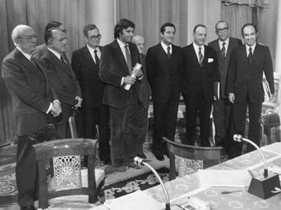 Firma de los Pactos de la Moncloa en 1977.efe