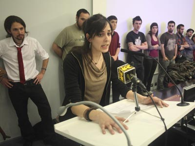 Rita Maestre, una de las detenidas por la protesta de la capilla, este viernes en Madrid.
