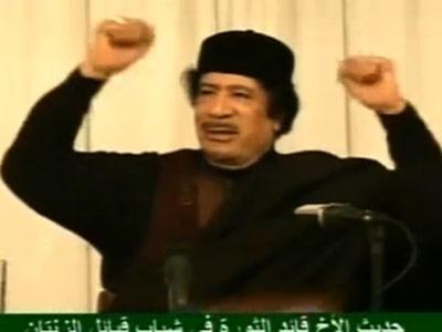 Muamar Gadafi, durante la entrevista televisiva.