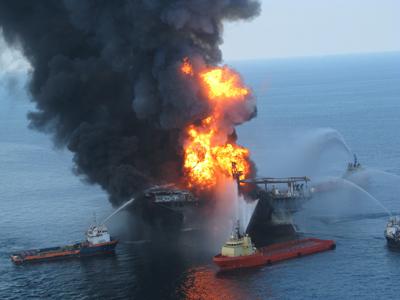 La plataforma 'Deepwater Horizon'. - AFP